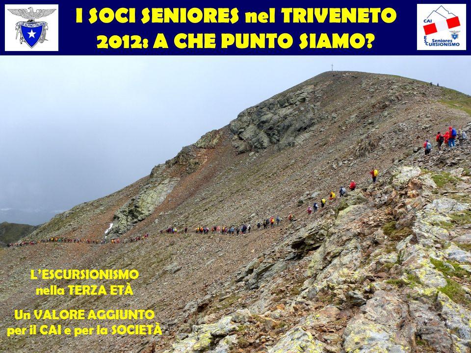 I SOCI SENIORES nel TRIVENETO 2012: A CHE PUNTO SIAMO.