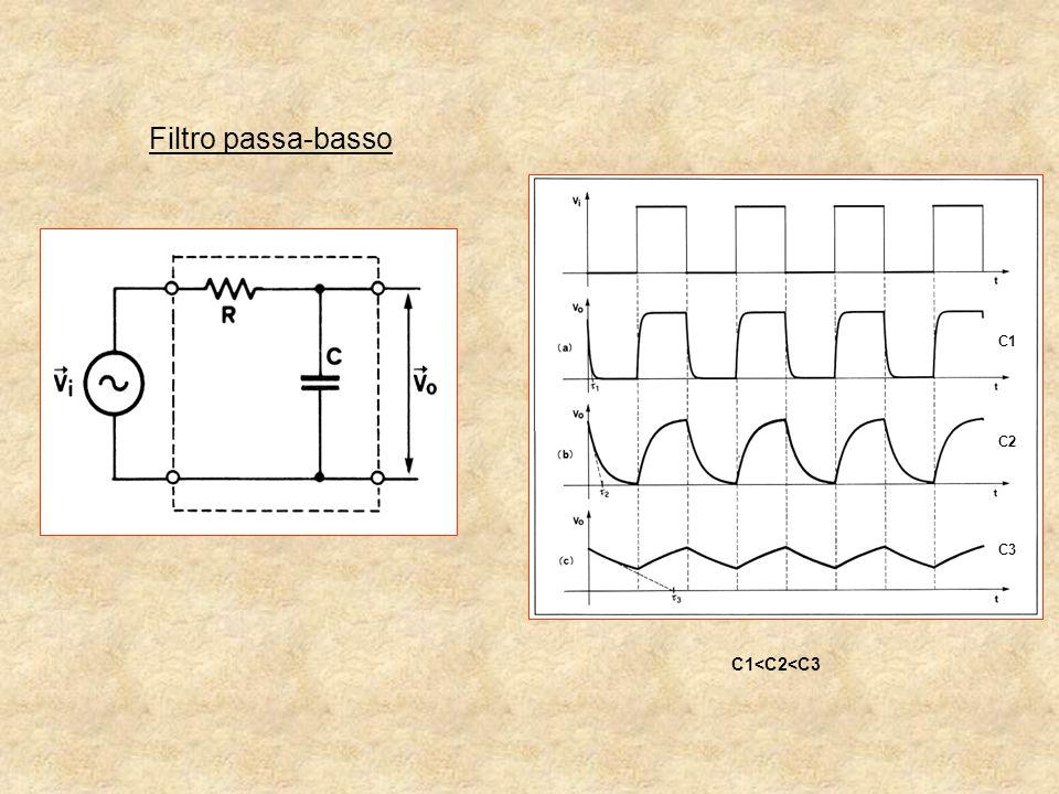 Filtro passa-basso C1 C2 C3 C1<C2<C3