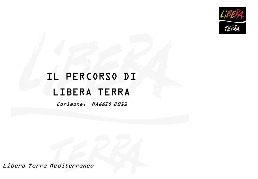 IL PERCORSO DI LIBERA TERRA Corleone, MAGGIO 2011 Libera Terra Mediterraneo