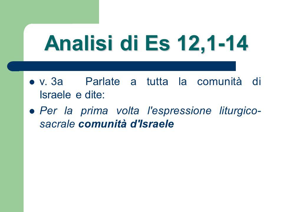 Analisi di Es 12,1-14 vv.