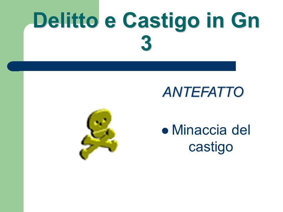 Delitto e Castigo in Gn 3 Conoscere come possedere ANTEFATTO