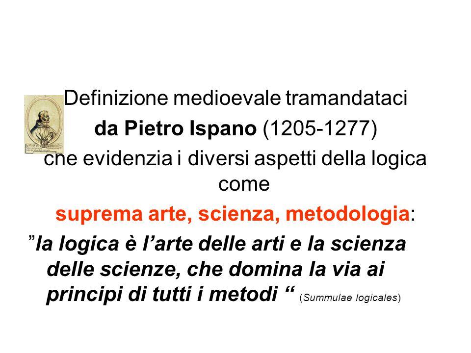 Definizione medioevale tramandataci da Pietro Ispano (1205-1277) che evidenzia i diversi aspetti della logica come suprema arte, scienza, metodologia: