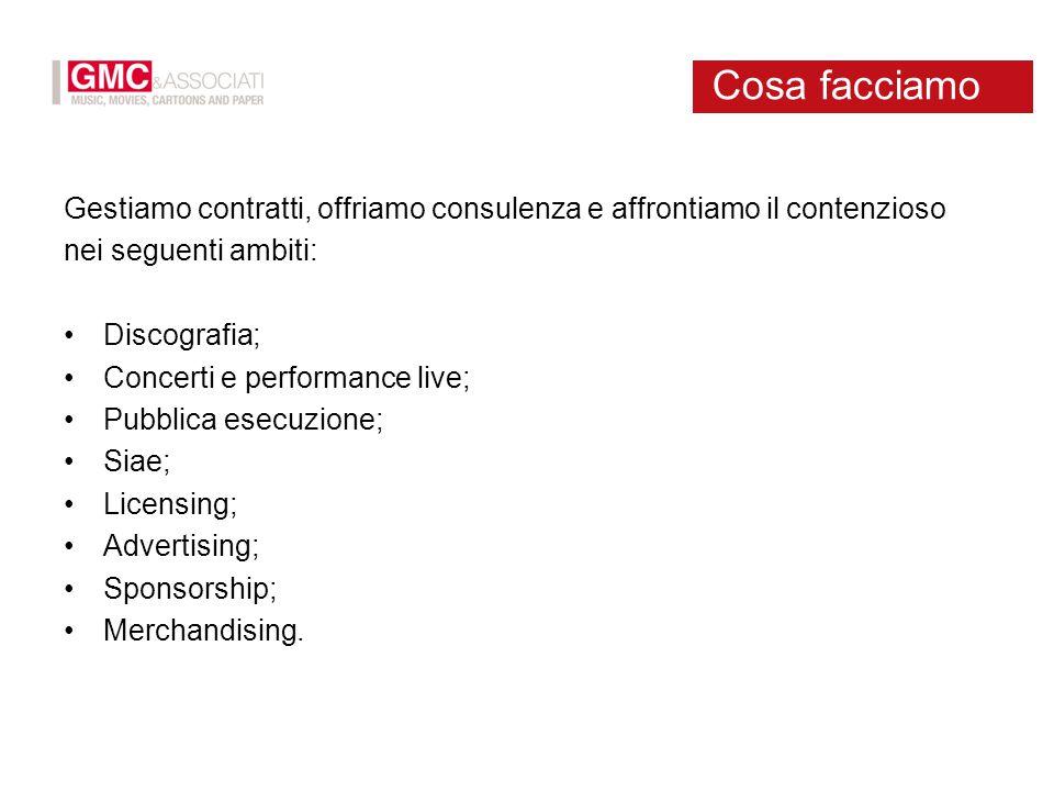 Gestiamo contratti, offriamo consulenza e affrontiamo il contenzioso nei seguenti ambiti: Discografia; Concerti e performance live; Pubblica esecuzion