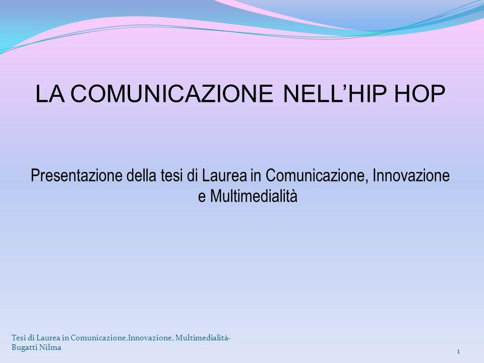 LA COMUNICAZIONE NELL'HIP HOP Presentazione della tesi di Laurea in Comunicazione, Innovazione e Multimedialità Tesi di Laurea in Comunicazione,Innova