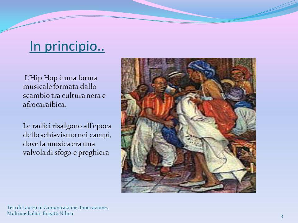 In principio.. L'Hip Hop è una forma musicale formata dallo scambio tra cultura nera e afrocaraibica. Le radici risalgono all'epoca dello schiavismo n