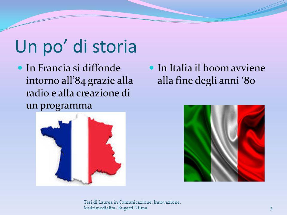 Un po' di storia In Francia si diffonde intorno all'84 grazie alla radio e alla creazione di un programma In Italia il boom avviene alla fine degli an