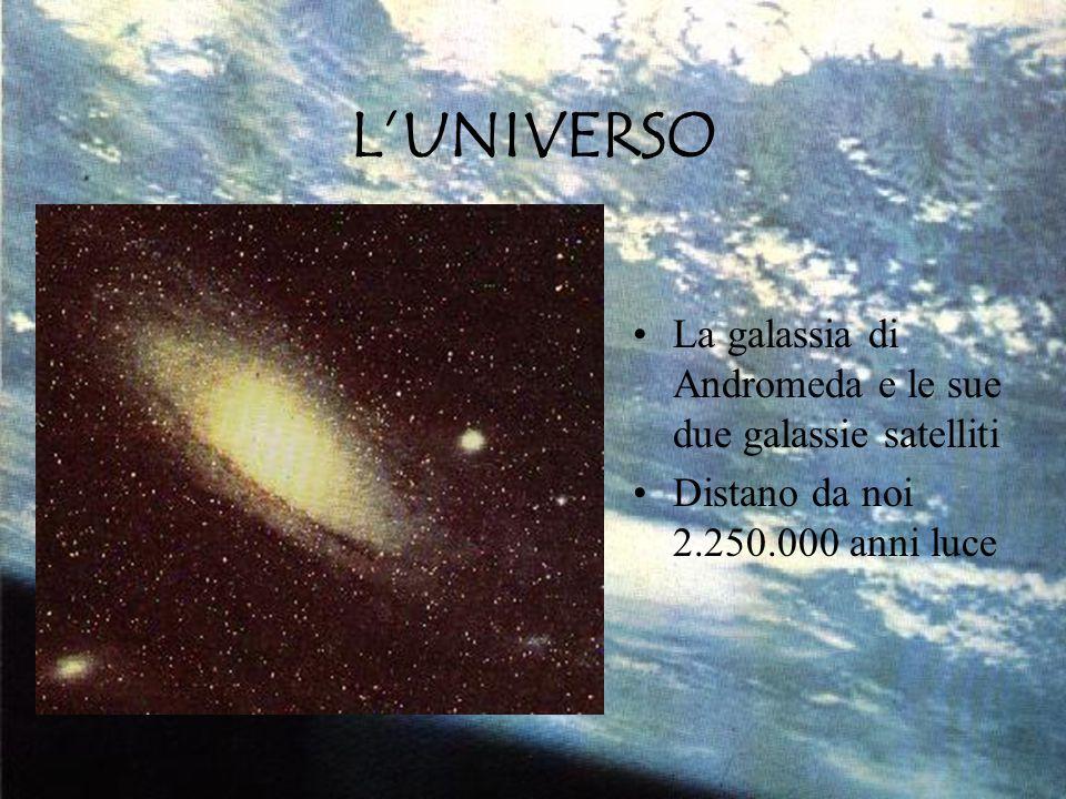 L'UNIVERSO La galassia di Andromeda e le sue due galassie satelliti Distano da noi 2.250.000 anni luce