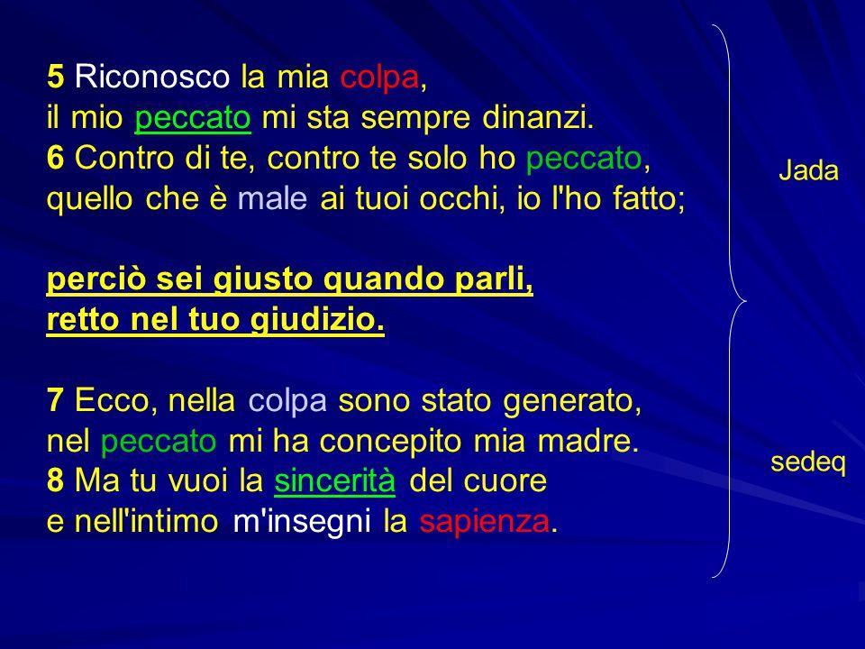 v.3 meheh pesa aj = cancella la mia colpa v. 11 awonotaj meheh = cancella le mie iniquità v.