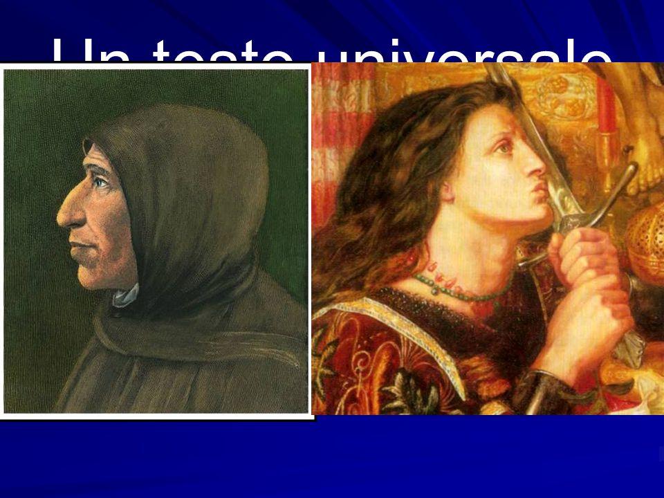 Un testo universale Il Miserere è il segnale di battaglia del Savonarola, cantore severo del peccato e dell'ingiustizia, ma anche delicatissimo annunz