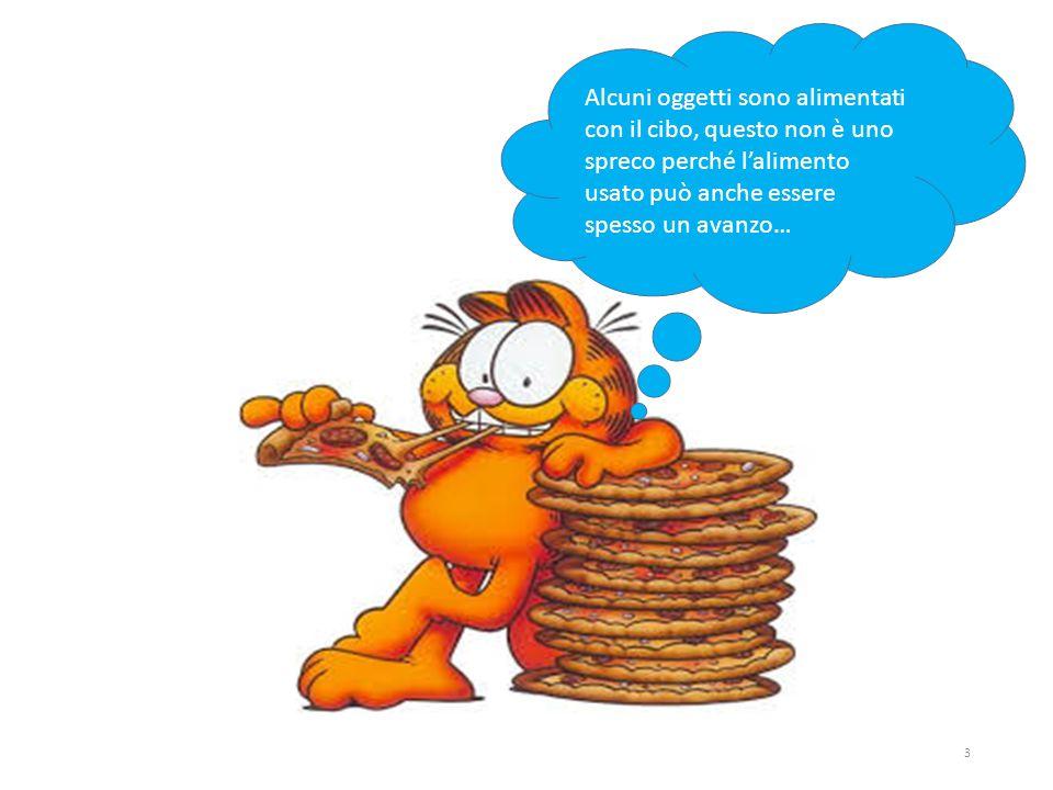 Alcuni oggetti sono alimentati con il cibo, questo non è uno spreco perché l'alimento usato può anche essere spesso un avanzo… 3