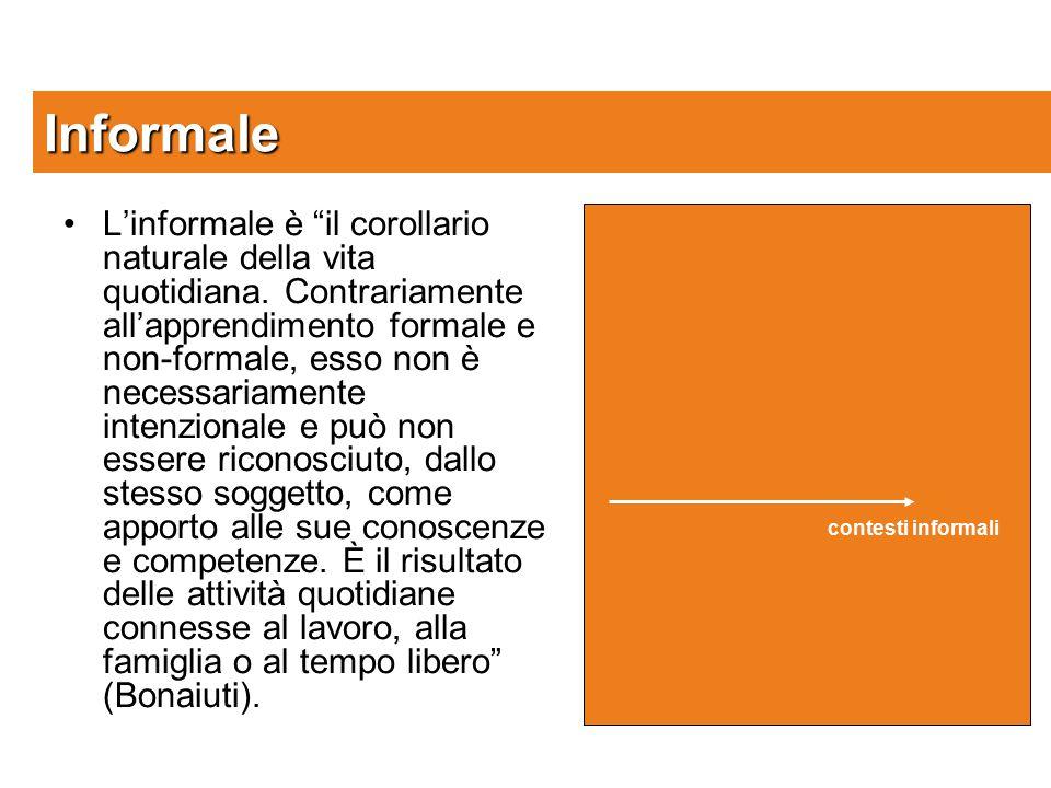L'informale è il corollario naturale della vita quotidiana.