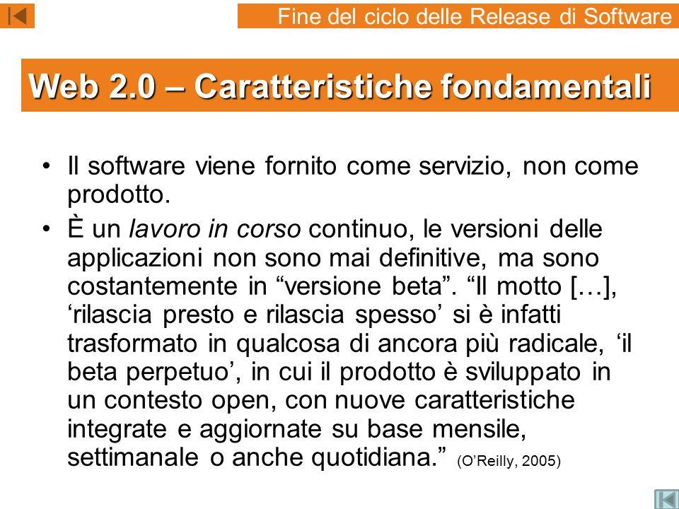 Il software viene fornito come servizio, non come prodotto.