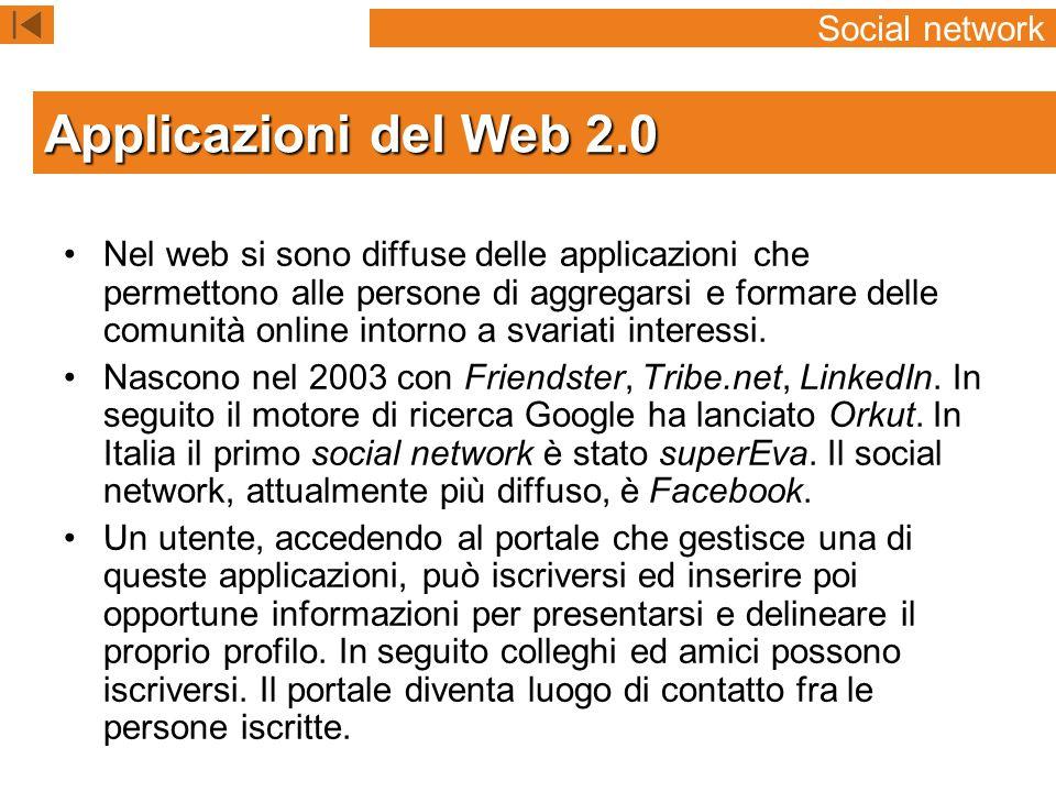 Nel web si sono diffuse delle applicazioni che permettono alle persone di aggregarsi e formare delle comunità online intorno a svariati interessi.