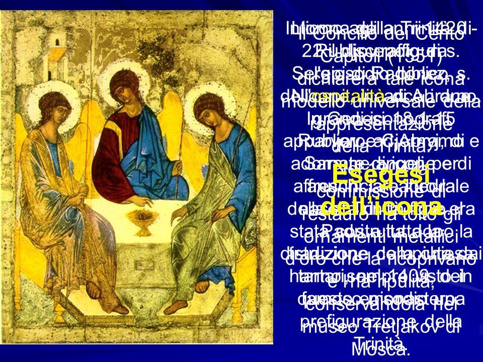 Intorno agli anni 1420 - 22 il discepolo di s. Sergio di Radonez, s. Nicone, incaricò i due grandi iconografi Rubljov e Cjornyj, di adornare di icone