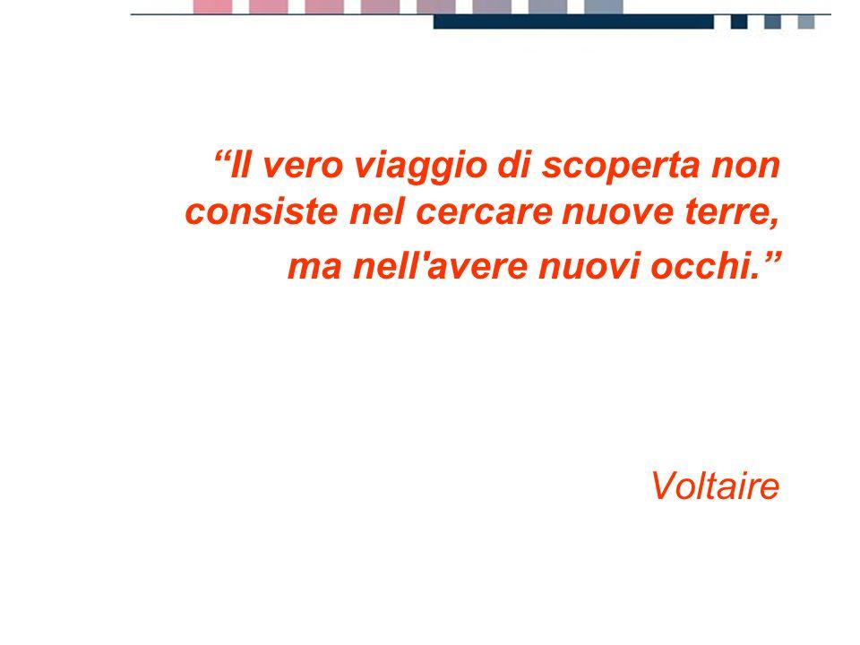 """progetti servizi tecnologie """"Il vero viaggio di scoperta non consiste nel cercare nuove terre, ma nell'avere nuovi occhi."""" Voltaire"""