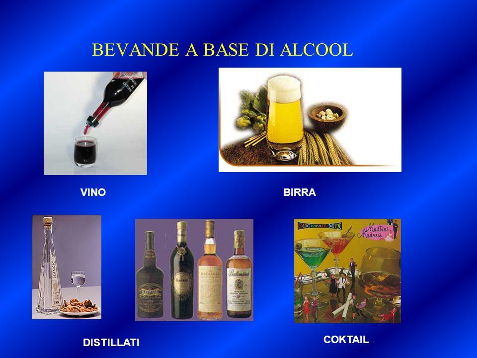 BEVANDE A BASE DI ALCOOL VINOBIRRA DISTILLATI COKTAIL