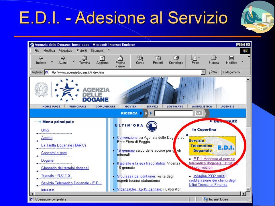 E.D.I. - Adesione al Servizio