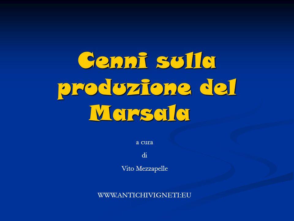 Cenni sulla produzione del Marsala a cura di Vito Mezzapelle WWW.ANTICHIVIGNETI:EU