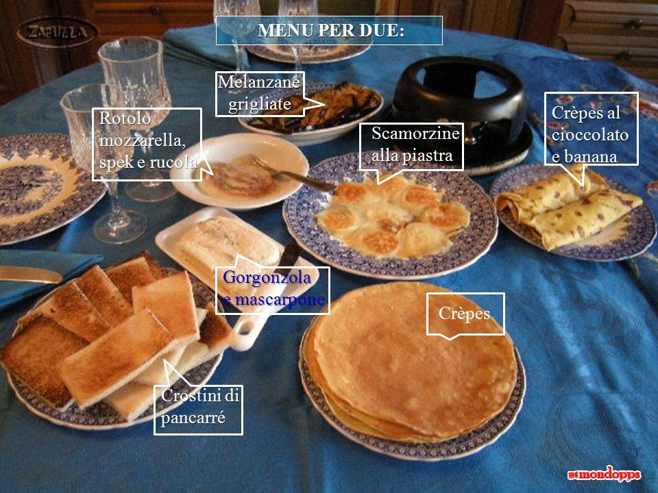 Prepariamo le scamorzine (o fette di scamorza o di qualsiasi altro formaggio, secondo preferenza).