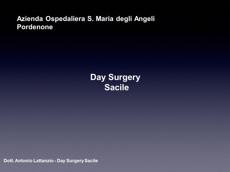 Dott. Antonio Lattanzio - Day Surgery Sacile Day Surgery Sacile Azienda Ospedaliera S. Maria degli Angeli Pordenone