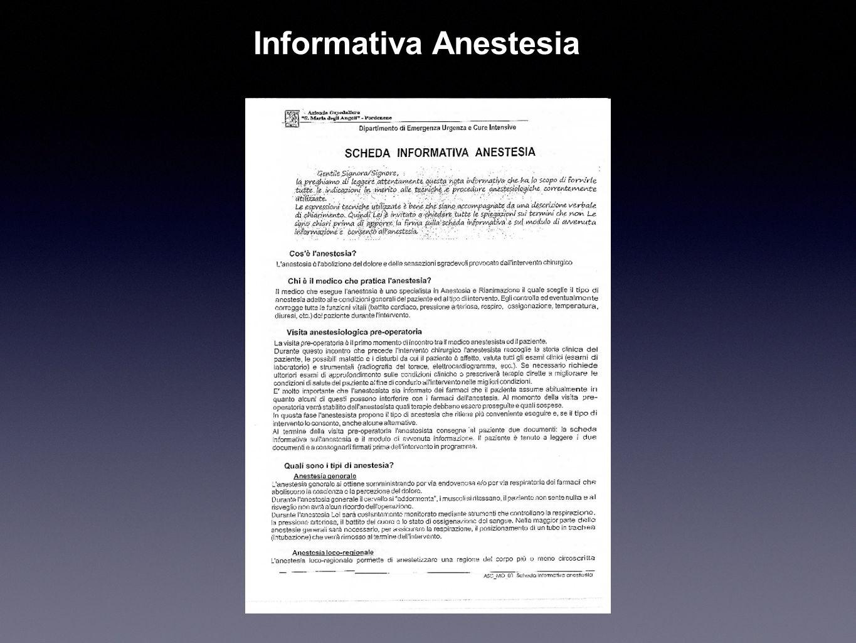 Informativa Anestesia