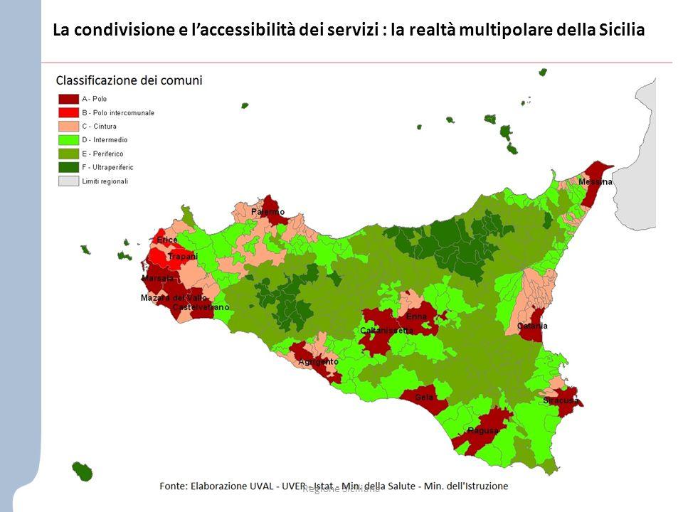 La condivisione e l'accessibilità dei servizi : la realtà multipolare della Sicilia Regione Siciliana
