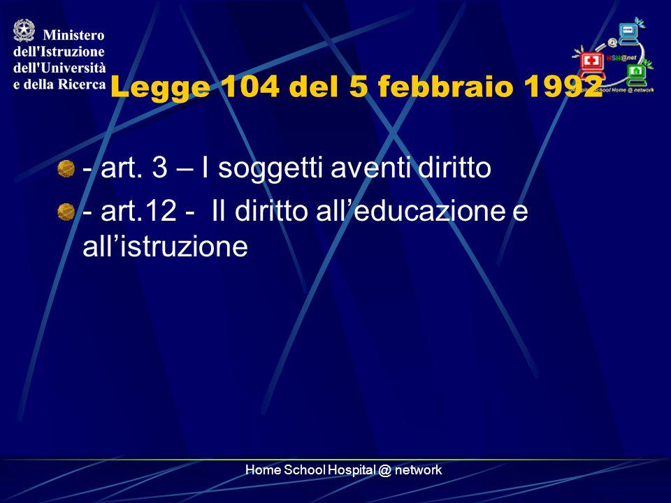 Home School Hospital @ network Legge 104/92 comma 9 9.