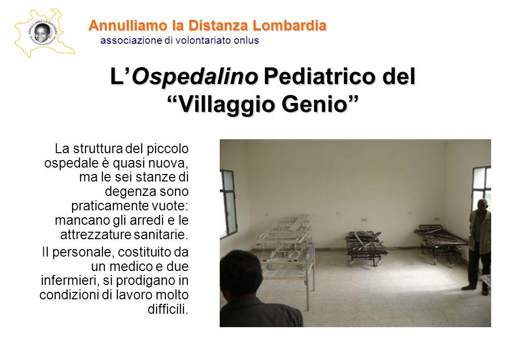 La struttura del piccolo ospedale è quasi nuova, ma le sei stanze di degenza sono praticamente vuote: mancano gli arredi e le attrezzature sanitarie.