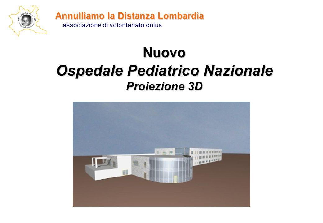 Annulliamo la Distanza Lombardia associazione di volontariato onlus Nuovo Ospedale Pediatrico Nazionale Proiezione 3D