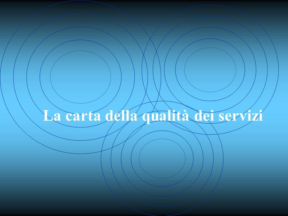 La carta della qualità dei servizi