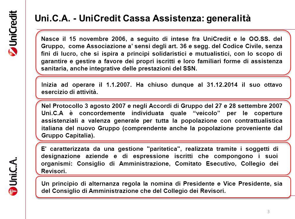 4 Uni.C.A.: il modello di servizio UniCredit fornisce il personale necessario al funzionamento di Uni.C.A., ivi compreso il Direttore.