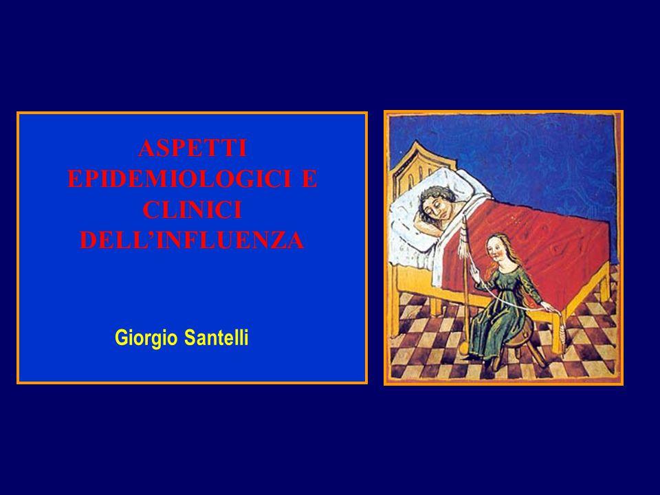 ASPETTI EPIDEMIOLOGICI E CLINICI DELL'INFLUENZA Giorgio Santelli