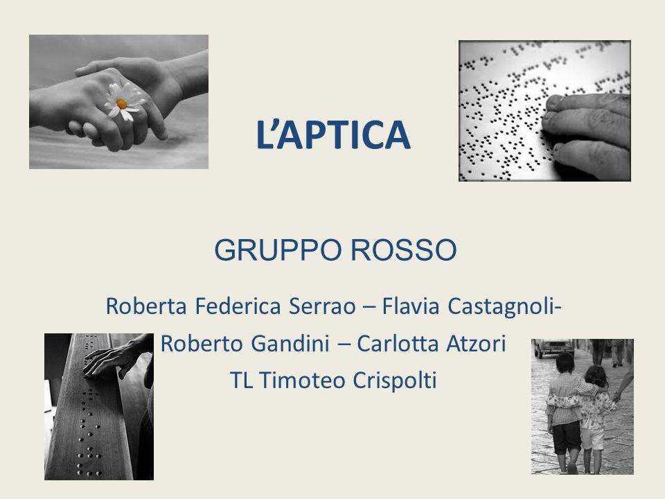 L'APTICA Roberta Federica Serrao – Flavia Castagnoli- Roberto Gandini – Carlotta Atzori TL Timoteo Crispolti GRUPPO ROSSO