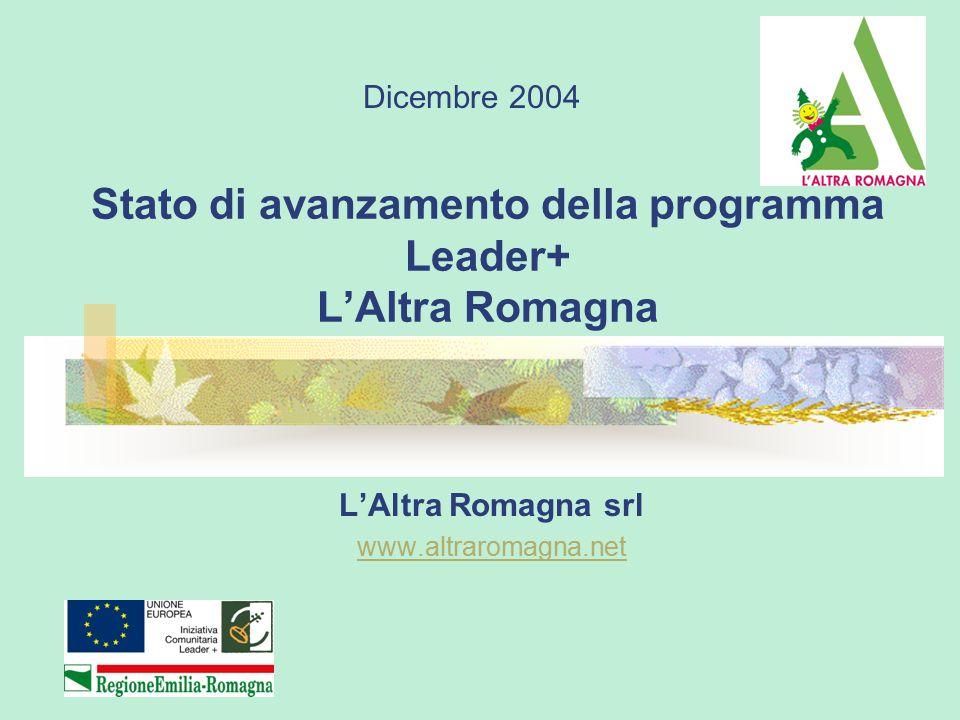 Stato di avanzamento della programma Leader+ L'Altra Romagna L'Altra Romagna srl www.altraromagna.net Dicembre 2004