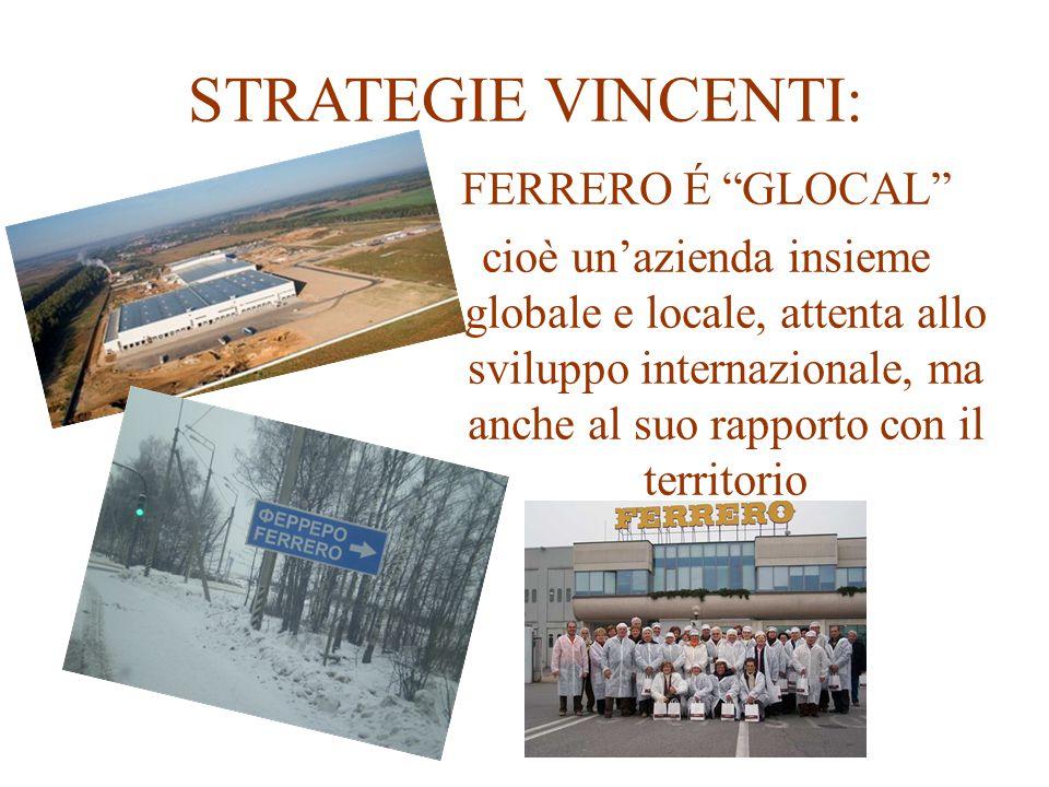 """STRATEGIE VINCENTI: FERRERO É """"GLOCAL"""" cioè un'azienda insieme globale e locale, attenta allo sviluppo internazionale, ma anche al suo rapporto con il"""