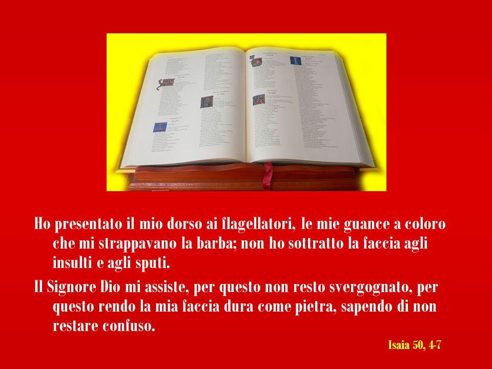 Il Signore Dio mi ha dato una lingua da discepolo, perché io sappia indirizzare una parola allo sfiduciato.