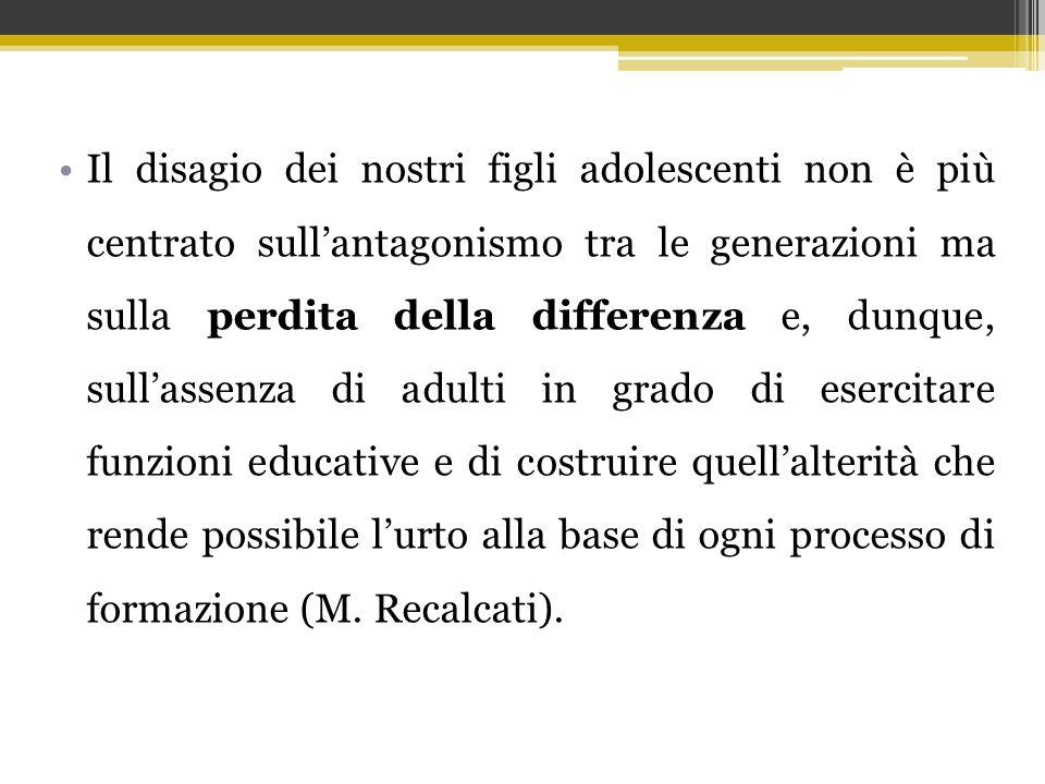Il disagio dei nostri figli adolescenti non è più centrato sull'antagonismo tra le generazioni ma sulla perdita della differenza e, dunque, sull'assen