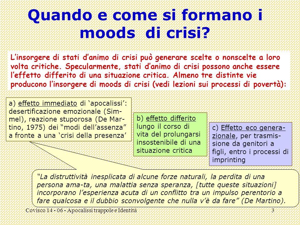 Covisco 14 - 06 - Apocalissi trappole e Identità3 Quando e come si formano i moods di crisi.