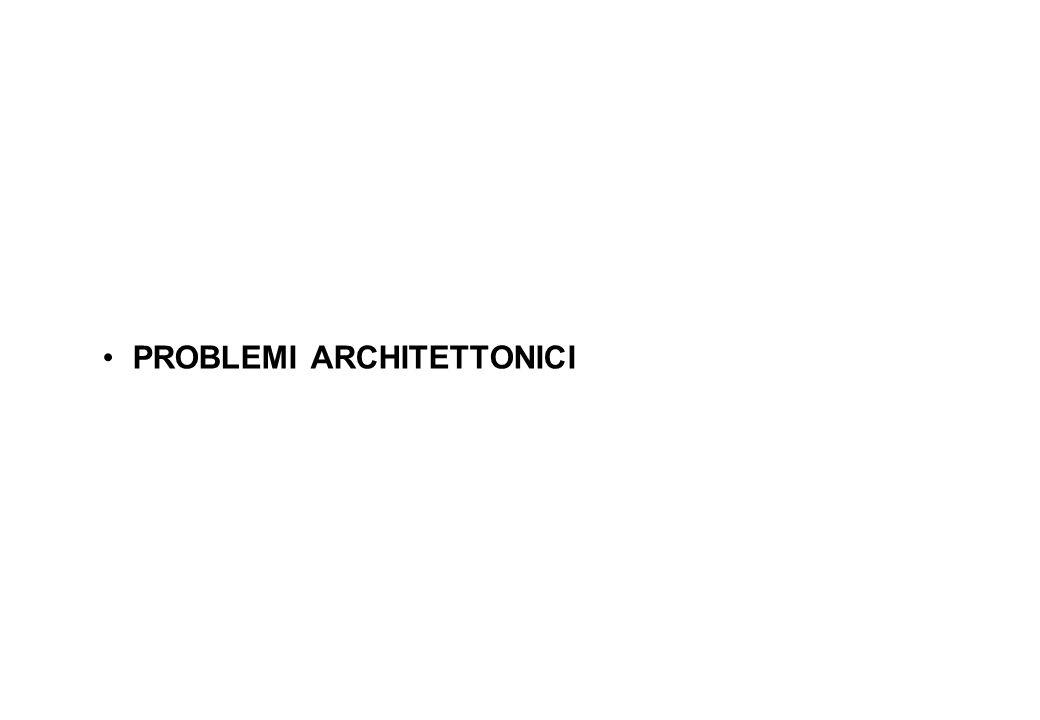 PROBLEMI ARCHITETTONICI