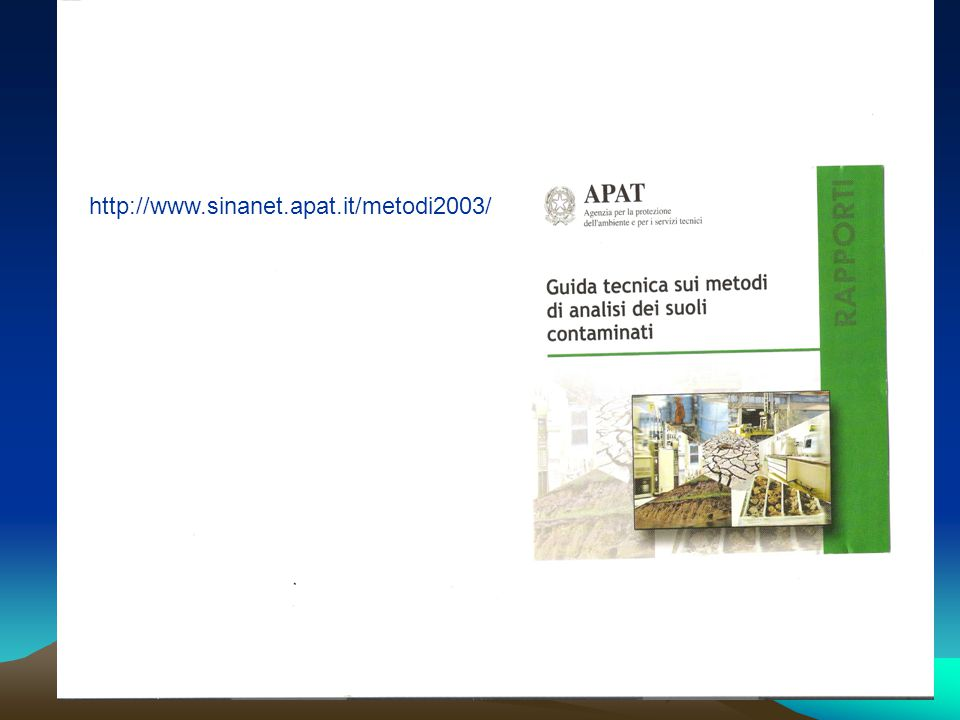 http://www.sinanet.apat.it/metodi2003/