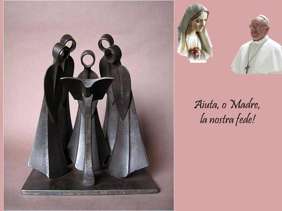 """con le sculture di Jean-Pierre Augier Preghiera di : PAPA FRANCESCO """" A MARIA """" Madre della Chiesa e Madre della nostra fede"""