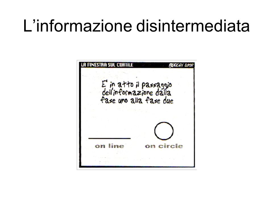 L'informazione disintermediata