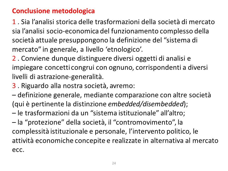 24 Conclusione metodologica 1.