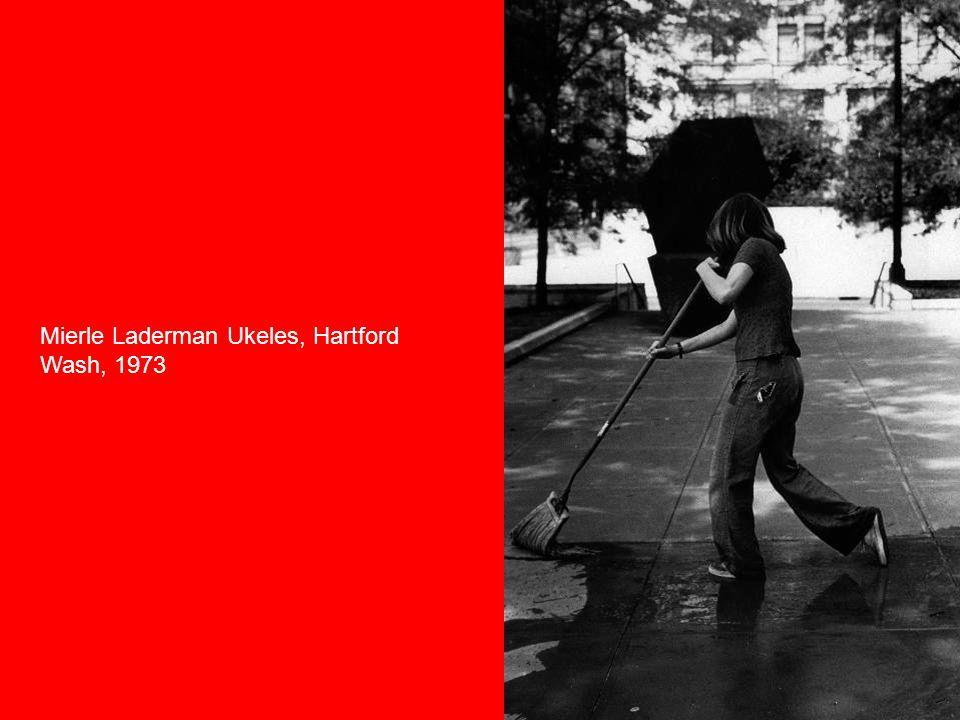 Mierle Laderman Ukeles, Hartford Wash, 1973