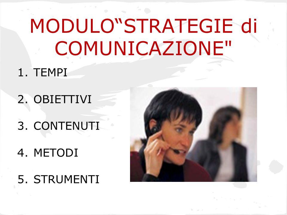 """MODULO""""STRATEGIE di COMUNICAZIONE"""