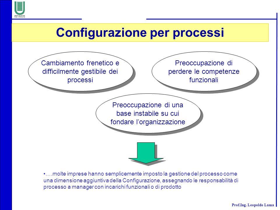Prof.Ing. Leopoldo Lama Cambiamento frenetico e difficilmente gestibile dei processi Preoccupazione di perdere le competenze funzionali Preoccupazione