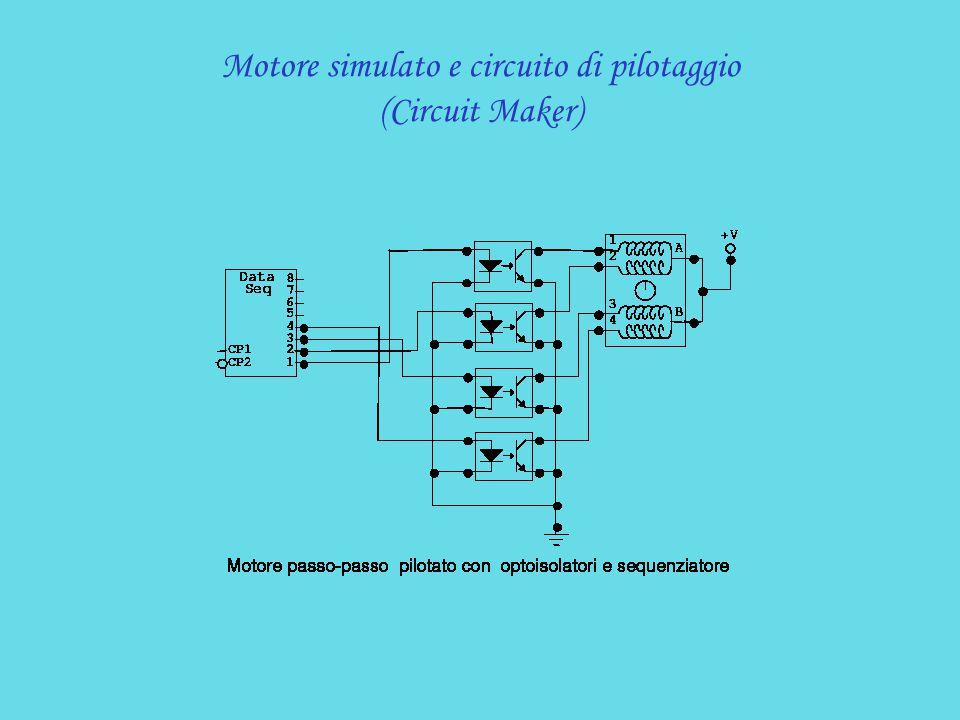 Motore simulato e circuito di pilotaggio (Circuit Maker)