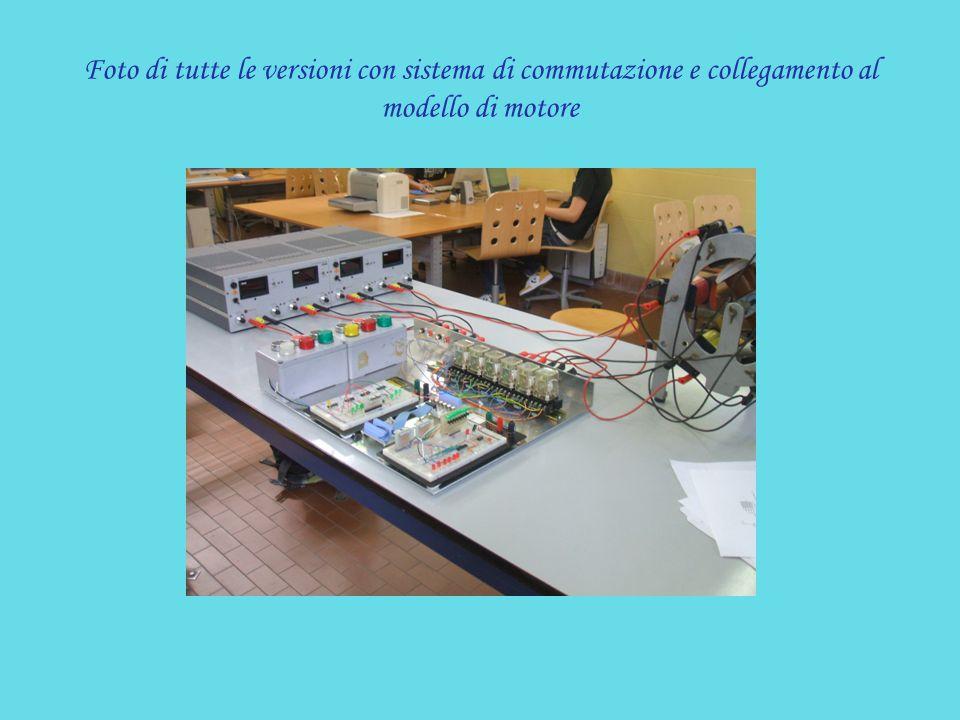 Foto di tutte le versioni con sistema di commutazione e collegamento al modello di motore