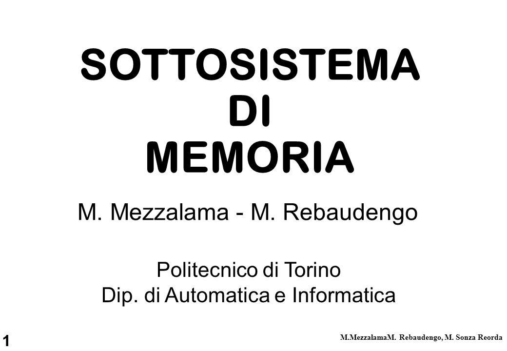1 M.MezzalamaM. Rebaudengo, M. Sonza Reorda Politecnico di Torino Dip.