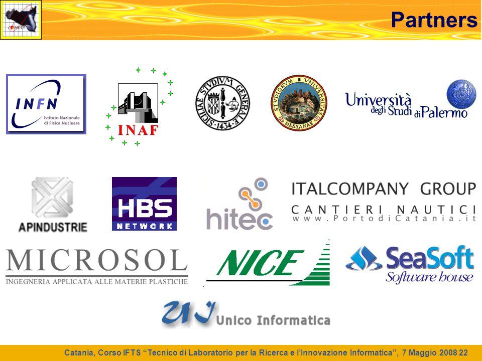 """Catania, Corso IFTS """"Tecnico di Laboratorio per la Ricerca e l'Innovazione Informatica"""", 7 Maggio 2008 22 Partners"""